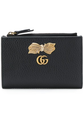 Gucci bow detail zip wallet - Black