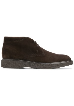 Tod's flat lace-up boots - Brown
