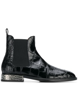 Alberto Gozzi embossed surface boots - Black