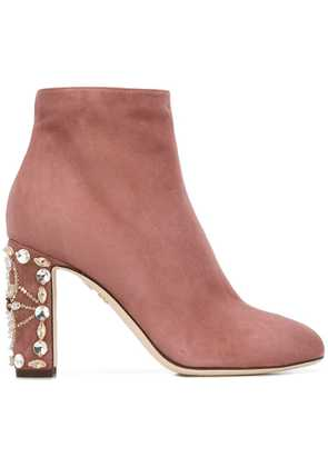 Dolce & Gabbana zip-up ankle boots - Pink & Purple