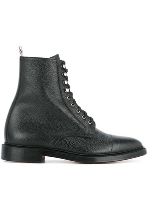 Thom Browne combat lace-up boots - Black