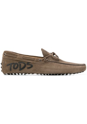 Tod's appliquéd Gommino loafers - Brown