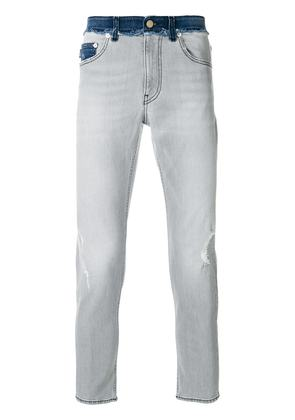 Love Moschino distressed cropped jeans - Grey