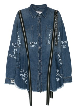 Faith Connexion NTMB Oversized Denim Shirt - Blue