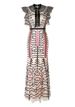 Temperley London embroidered geometric dress - Pink & Purple