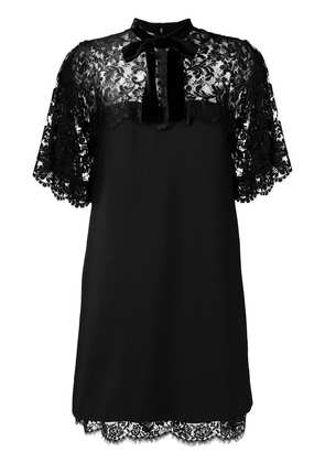 Gucci lace panels short dress - Black