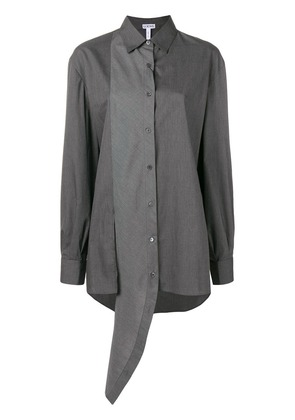 Loewe asymmetric two-tone shirt - Grey