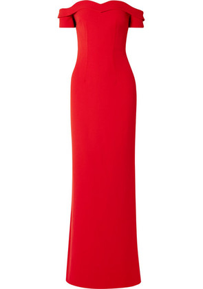 Safiyaa - Zorya Off-the-shoulder Crepe Gown - Red