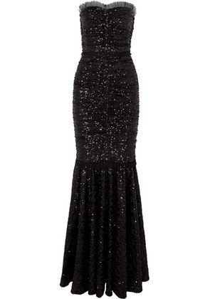 Dolce & Gabbana - Sequined Stretch-tulle Gown - Black
