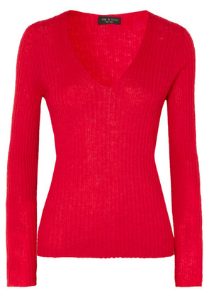 rag & bone - Donda Ribbed Mohair-blend Sweater - Red
