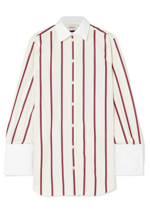Totême - Sassa Oversized Striped Cotton-poplin Shirt - White