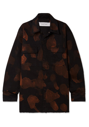 Marques' Almeida - Oversized Bleached Denim Shirt - Black