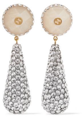 Gucci - Gold-plated, Resin And Crystal Earrings - one size