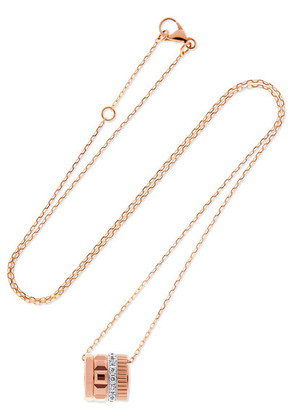 Boucheron - Quatre Radiant Edition 18-karat Rose And White Gold Diamond Necklace - Rose gold