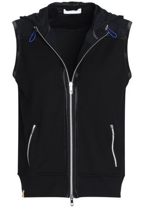 Monreal London Woman French Terry Hooded Vest Black Size S