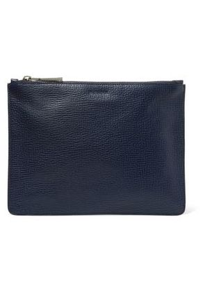 Jil Sander Woman Textured-leather Pouch Navy Size -