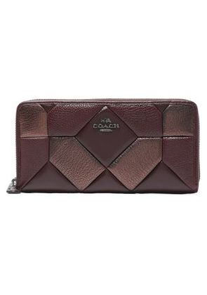 Coach Woman Quilted Textured-leather Wallet Bronze Size -