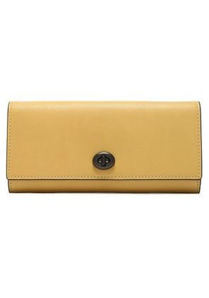 Coach Woman Leather Wallet Saffron Size -