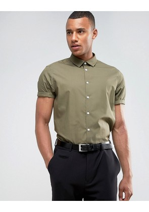 ASOS Regular Fit Shirt In Green - Green