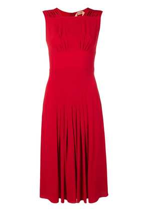 No21 pleated detail dress - Red