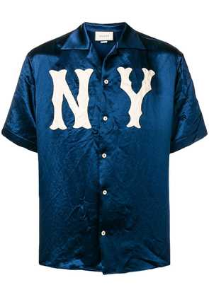 Gucci NY Yankees™ patch bowling shirt - Blue