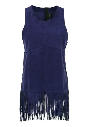 Andrea Bogosian fringed sleeveless top - Purple