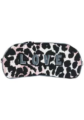 Love Stories leopard print eye cover - Black
