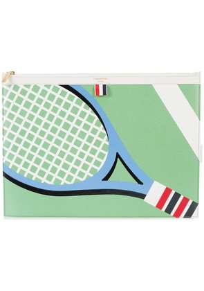 Thom Browne Large Zipper Laptop Holder (39x28Cm) With Tennis Racket