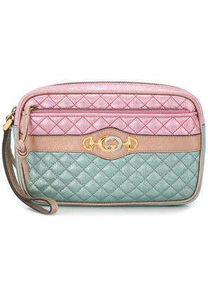 Gucci quilted clutch - Pink & Purple