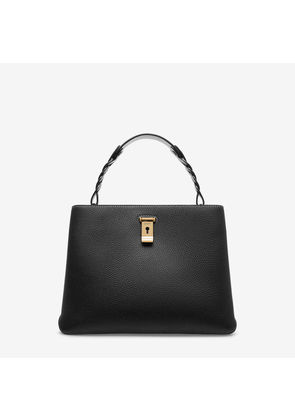 Bally Lucyle Black, Women's calf leather shoulder bag in black