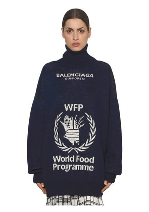 WORLD FOOD JACQUARD WOOL SWEATER
