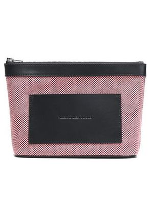 Alexander Wang Woman Leather-trimmed Woven Cosmetics Case Pink Size -