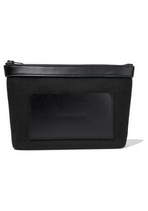 Alexander Wang Woman Leather-paneled Canvas Pouch Black Size -