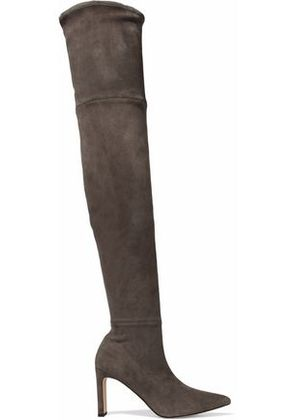 Sigerson Morrison Woman Stretch-suede Over-the-knee Boots Taupe Size 6.5