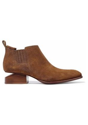 Alexander Wang Woman Kori Suede Ankle Boots Light Brown Size 35.5