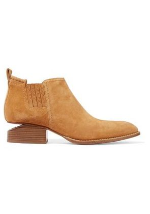 Alexander Wang Woman Kori Suede Ankle Boots Camel Size 41