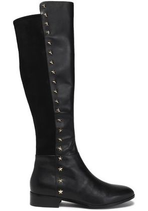 Michael Michael Kors Woman Embellished Leather And Suede Boots Black Size 6