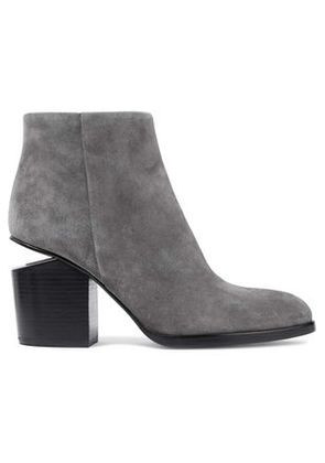 Alexander Wang Woman Gabi Suede Ankle Boots Gray Size 36