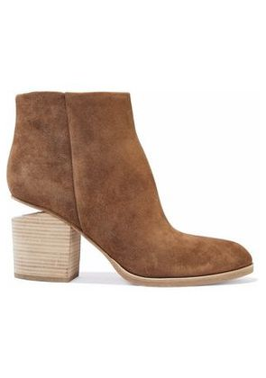 Alexander Wang Woman Gabi Suede Ankle Boots Light Brown Size 35