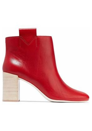 Mercedes Castillo Woman Bailee Leather Ankle Boots Red Size 5