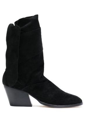 Sigerson Morrison Woman Knotted Suede Ankle Boots Black Size 6.5