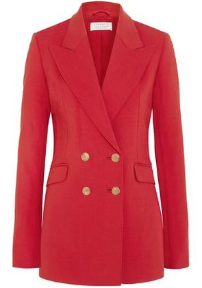 Gabriela Hearst Woman Angela Double-breasted Wool-blend Blazer Tomato Red Size 46