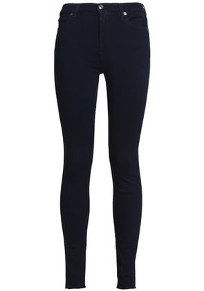 7 For All Mankind Woman High-rise Skinny Jeans Navy Size 27