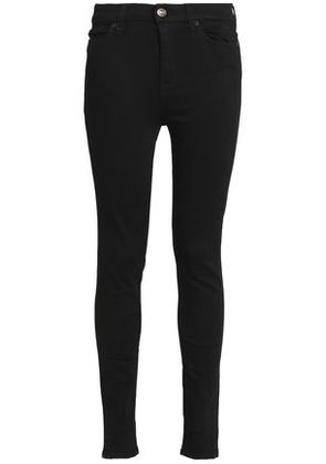 7 For All Mankind Woman High-rise Skinny Jeans Black Size 28