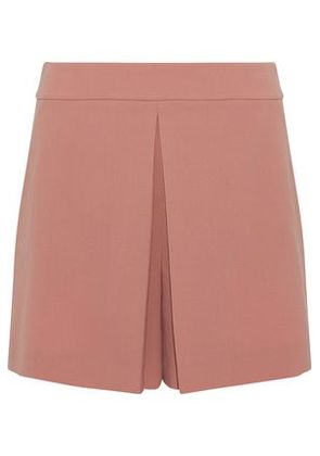 Alexander Wang Woman Pleated Crepe Shorts Antique Rose Size 2