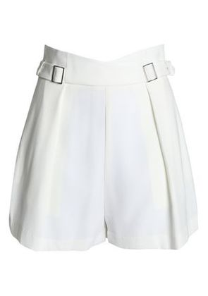 Zimmermann Woman Buckled Pleated Cady Shorts White Size 2