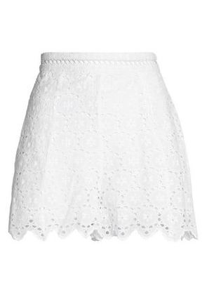 Zimmermann Woman Scalloped Broderie Anglaise Cotton Shorts White Size 3