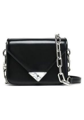 Alexander Wang Woman Glossed-leather Shoulder Bag Black Size -