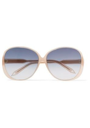 Victoria Beckham Woman Round-frame Acetate And Gold-tone Sunglasses Pastel Pink Size -