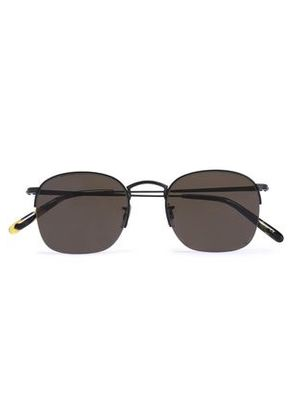 Oliver Peoples Woman Square-frame Gunmetal-tone Sunglasses Black Size -